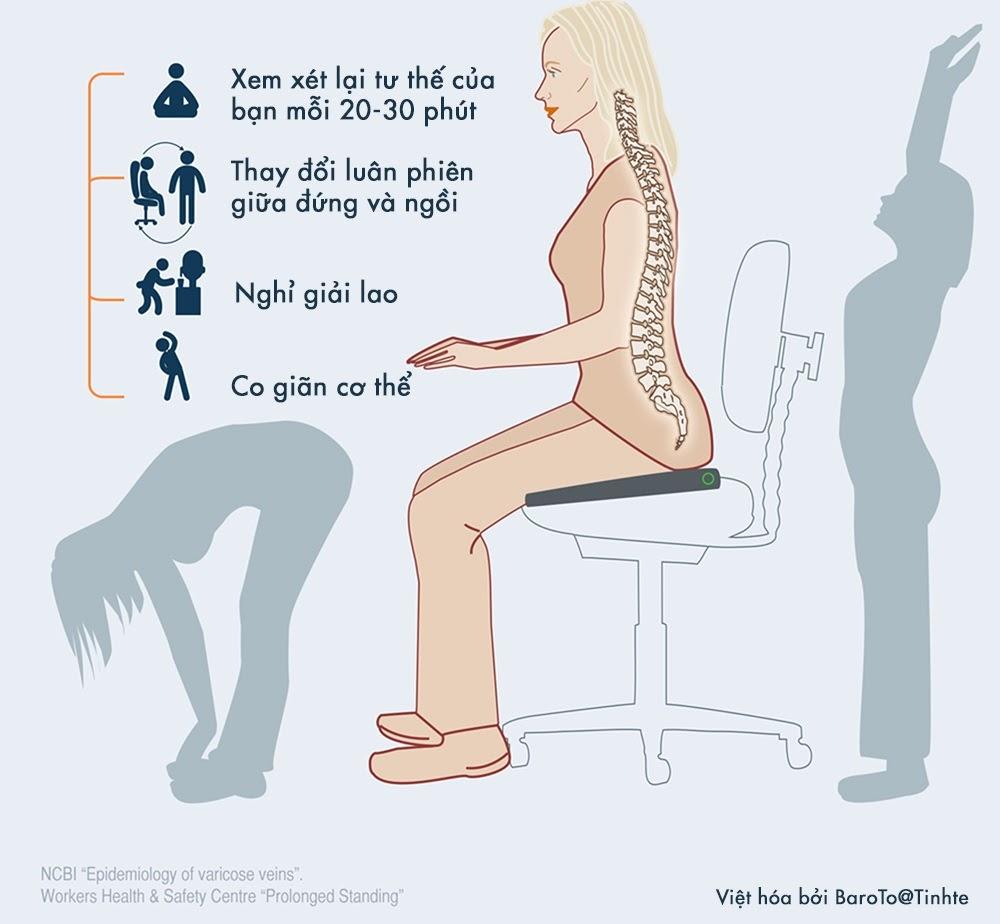 Lái xe, ngồi lâu bị đau thắt lưng thì phải làm gì để hạn chế?