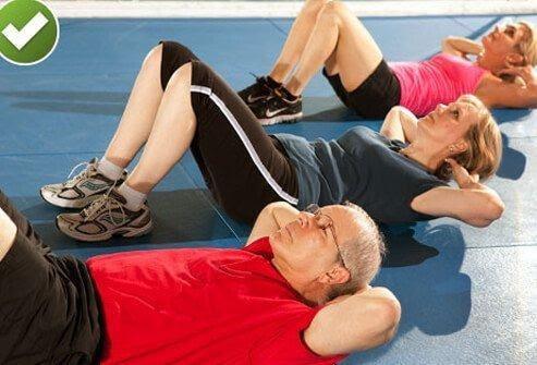Bài tự tập cho việc điều trị đau thắt lưng lâu ngày